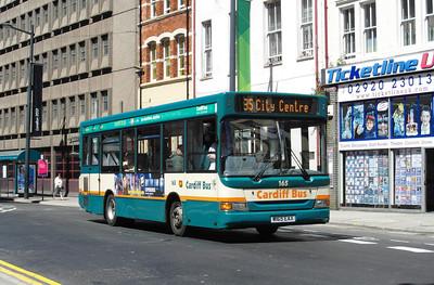 165 - W165EAX - Cardiff (Westgate St) - 23.7.12