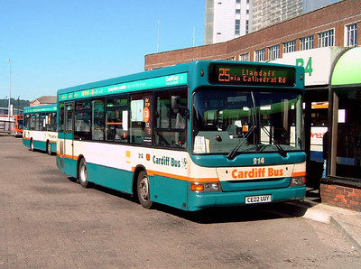 214 - CE02UUY - Cardiff (bus station) - 1.8.07