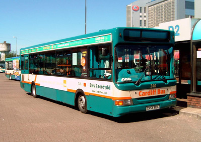 240 - CN54NUA - Cardiff (bus station) - 1.8.07