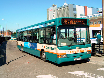 384 - Y384GAX - Cardiff (bus station) - 1.8.07
