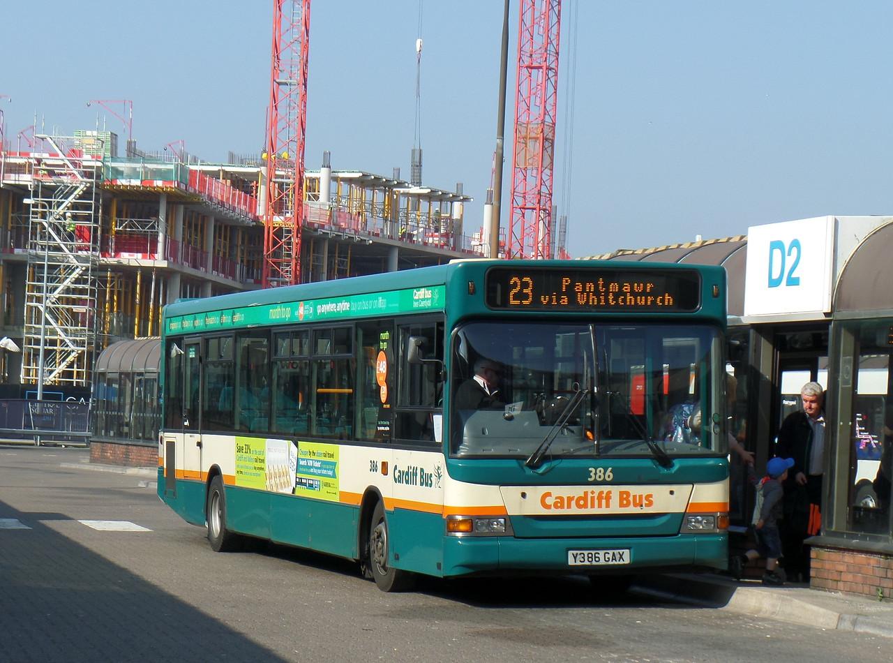 386 - Y386GAX - Cardiff (bus station)