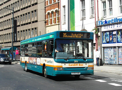 301 - S301SHB - Cardiff (Westgate St) - 23.7.12