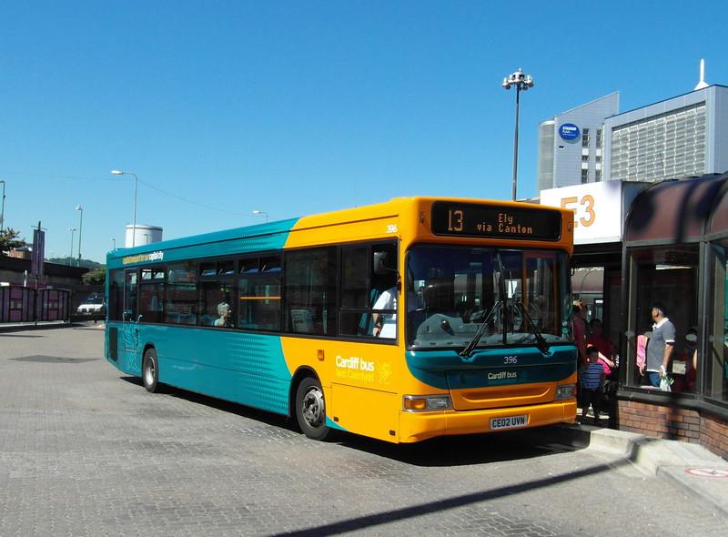 396 - CE02UVN - Cardiff (bus station) - 23.7.12