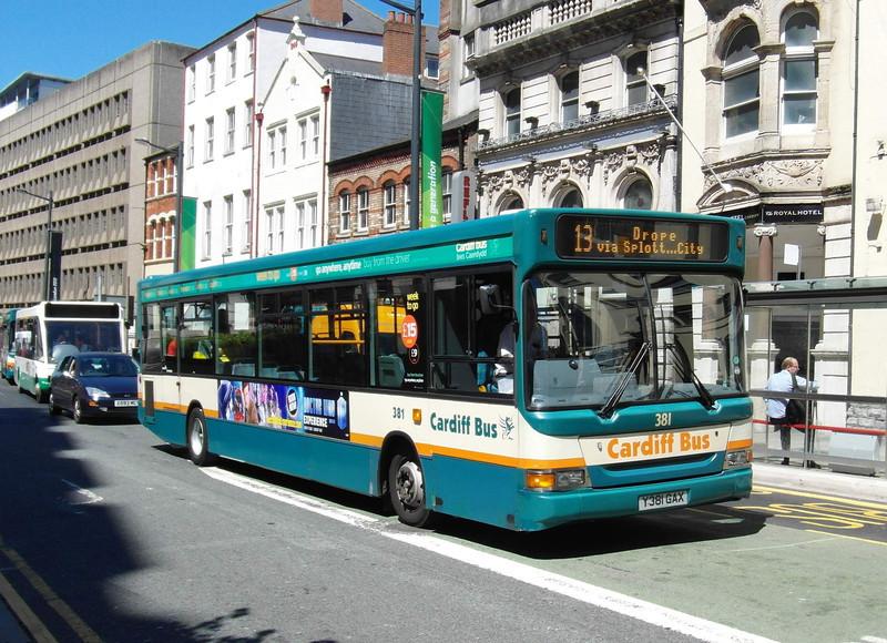 381 - Y381GAX - Cardiff (Westgate St) - 23.7.12
