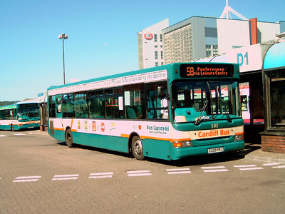 505 - CA03VRJ - Cardiff (bus station) - 1.8.07