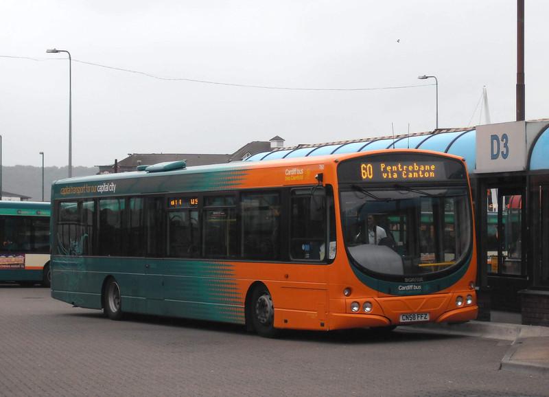 761 - CN58FFZ - Cardiff (bus station) - 3.8.09