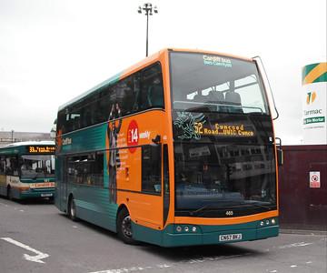 465 - CN57BKJ - Cardiff (bus station) - 3.8.09