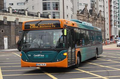732 - CN54BJX - Cardiff (Customhouse St) - 3.8.09