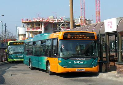 741 - CN59CKV - Cardiff (bus station)