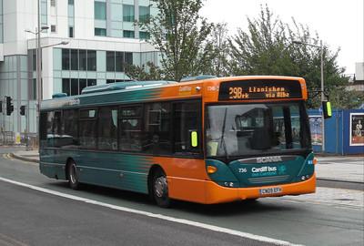 736 - CN09EFH - Cardiff (Customhouse St) - 3.8.09