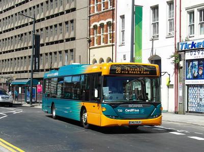 733 - CN57BJV - Cardiff (Westgate St) - 23.7.12