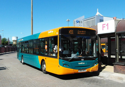 701 - CN04NPV - Cardiff (bus station) - 23.7.12