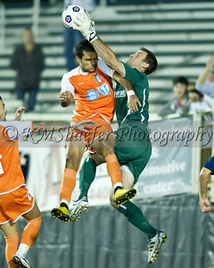 The Carolina RailHawks played the Minnesota Stars on Saturday, October 15, 2011 at WakeMed Soccer Park in Cary, N.C.  The RailHawks won the game 4-3, but lost the playoffs on total goals. - GREG MINTEL