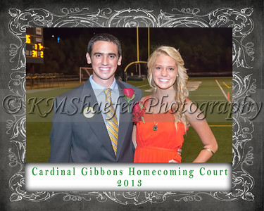 CGHS Homecoming Court 20138