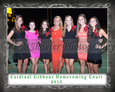 CGHS Homecoming Court 2013 2