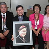 IMG_5260 Frank Tonido presented a painting he did of Cardinal Tagle   Frank Tonido, Cardinal Tagle, Nelia Tonido, and friend