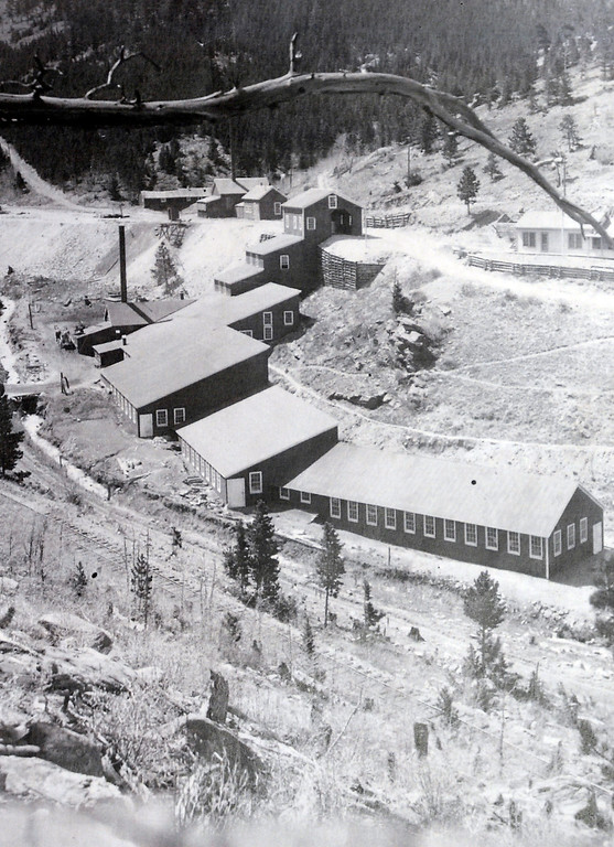 . The mill site from 1911. Photos courtesy of the Boulder Carnegie Library.  Historical photos of the Cardinal Mill Site