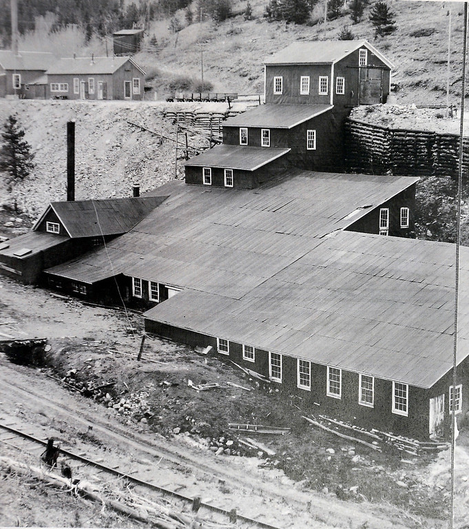 . The mill site from 1919. Photos courtesy of the Boulder Carnegie Library.  Historical photos of the Cardinal Mill Site