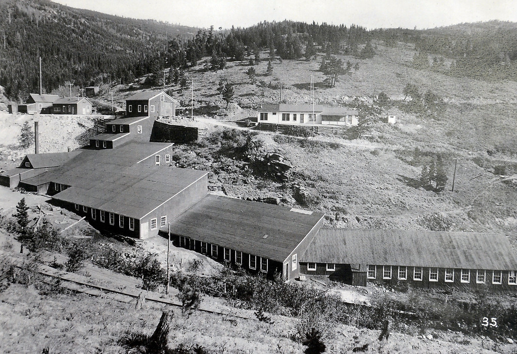 . The mill site from 1920. Photos courtesy of the Boulder Carnegie Library.  Historical photos of the Cardinal Mill Site