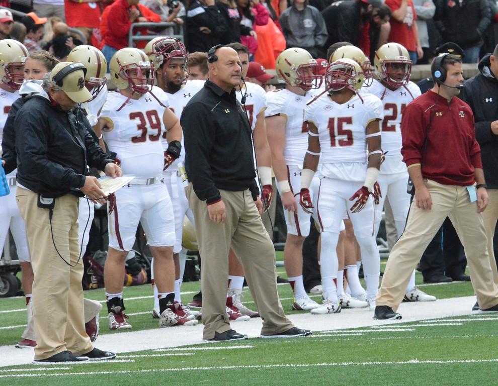 Boston College head coach Steve Adazio