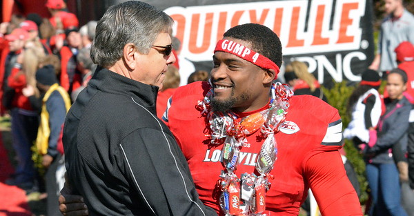 Senior Day - Corvin Lamb with Tom Jurich
