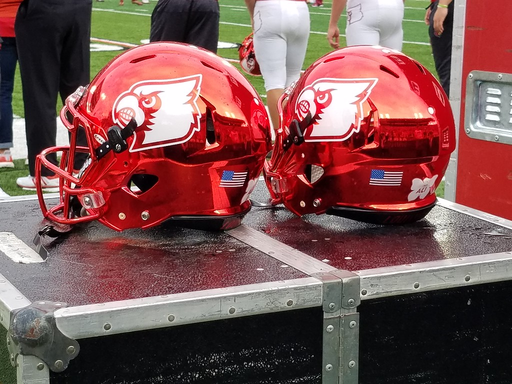 Cardinals debuted the red chrome helmets