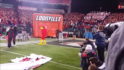 Louisville takes the field