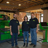 From right to left owners Scott and Mary Kauphusman and an MTC team member.
