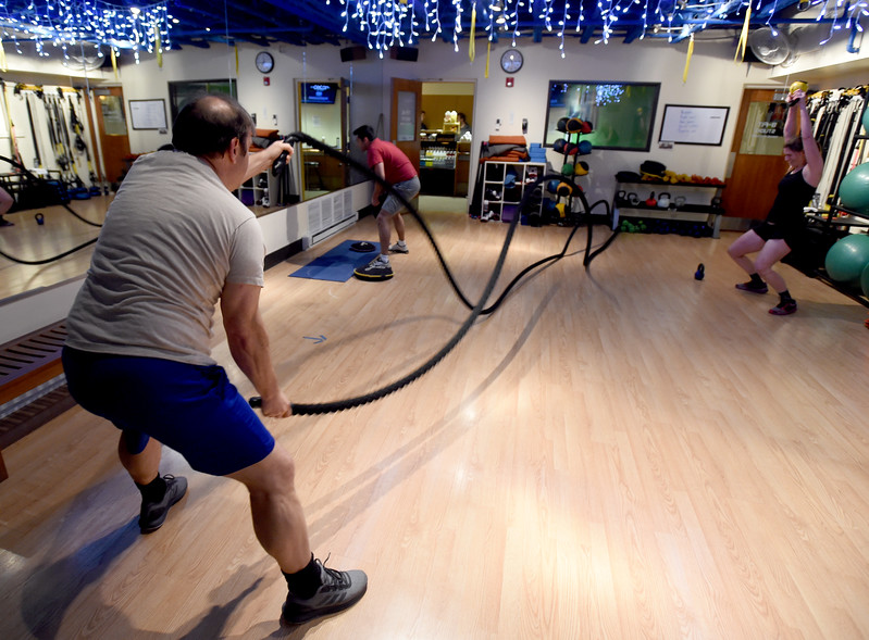 Cardio-Tabata class at One Boulder Fitness.