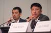 Dr. Atsushi Kobori, right, and Dr. Kazuaki Kaitano, left