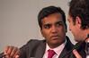 Dr. Luigi DiBiase, right, speaks with Dr. Vivek Reddy, left,