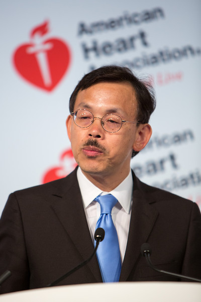 Dallas, TX - AHA 2013 Scientific Sessions - Jiang He speaks during the Press Conferenece: Late Break Clinical Trials 1 here today, Thursday November 1, 2012 during the American Heart Associations Scientific Sessions being held here at the Dallas Convention Center. Scientific Sessions is the leading cardiovascular meeting for basic, translational, clinical and population science, in the United States, with more 18,000 cardiovascular experts from more than 105 countries attending the meeting. Photo by © AHA/Scott Morgan 2012 Technical Questions: todd@medmeetingimages.com