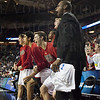 Louisville Cardinals bench and fans cheer during the second half against the Northern Iowa Panthers during the third round of the 2015 NCAA Men's Basketball Tournament at KeyArena on Sunday, March 22, 2015 in Seattle, Wash. Louisville won, 66-53.