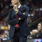 Head Coach Rick Pitino of the Louisville Cardinals paces on the sidelines against the Northern Iowa Panthers during the third round of the 2015 NCAA Men\'s Basketball Tournament at KeyArena on Sunday, March 22, 2015 in Seattle, Wash. Louisville won, 66-53