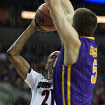 the Louisville Cardinals against the Northern Iowa Panthers during the third round of the 2015 NCAA Men\'s Basketball Tournament at KeyArena on Sunday, March 22, 2015 in Seattle, Wash. Louisville won, 66-53.
