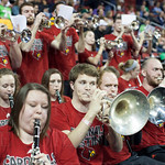 Louisville Cardinals band plays before the game against the Northern Iowa Panthers during the third round of the 2015 NCAA Men\'s Basketball Tournament at KeyArena on Sunday, March 22, 2015 in Seattle, Wash. Louisville won, 66-53.