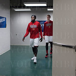 Montrezl Harrell (24) of the Louisville Cardinals walks out of the locker room before their game against the Northern Iowa Panthers during the third round of the 2015 NCAA Men\'s Basketball Tournament at KeyArena on Sunday, March 22, 2015 in Seattle, Wash