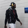 Montrezl Harrell (24) of the Louisville Cardinals walks to the locker room before their game against the Northern Iowa Panthers during the third round of the 2015 NCAA Men's Basketball Tournament at KeyArena on Sunday, March 22, 2015 in Seattle, Wash. Louisville won, 66-53.