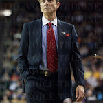 Head Coach Rick Pitino on the sidelines in the second half as Louisville Cardinals play against the Northern Iowa Panthers during the third round of the 2015 NCAA Men\'s Basketball Tournament at KeyArena on Sunday, March 22, 2015 in Seattle, Wash. Louisvi