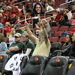 A South Florida fan cheered for his team.