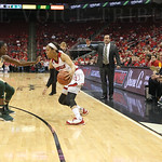 Asia Durr was guarded by South Florida\'s Alisia Jenkins during first quarter action.