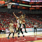 South Florida\'s Alisia Jenkins grabbed one of her 13 game - high rebounds during the third quarter.
