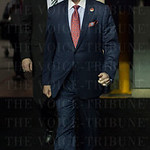 Head Coach Rick Pitino of the Louisville Cardinals walks from the locker room to the court before their game against the UC Irvine Anteaters during the second round of the 2015 NCAA Men\'s Basketball Tournament at Key Arena on Friday, March 20, 2015 in Se