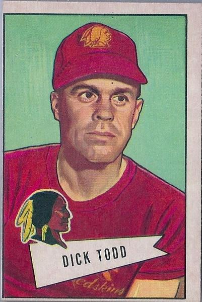 Dick Todd 1952 Bowman Large