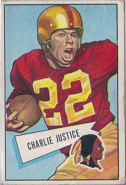 Charlie Justice 1952 Bowman Large