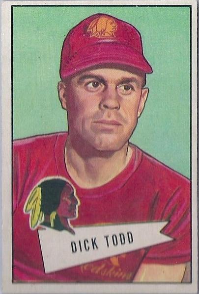 Dick Todd 1952 Bowman Small