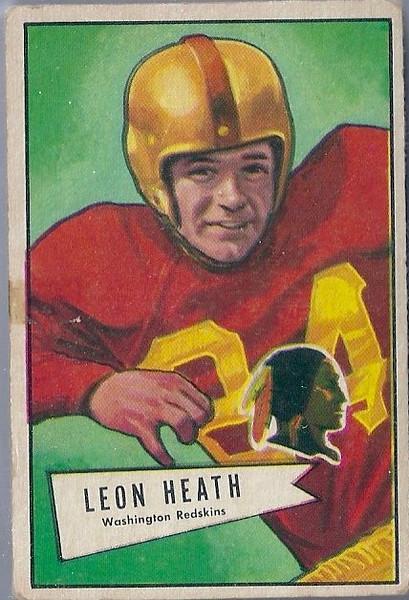 Leon Heath 1952 Bowman Small
