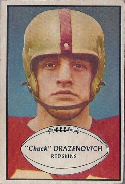 Chuck Drazenovich 1953 Bowman
