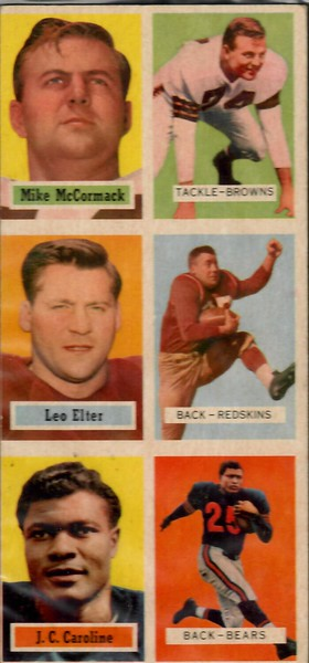 Leo Elter 1957 Topps Football Salesman Sample