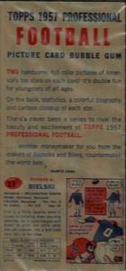 Leo Elter 1957 Topps Football Salesman Sample Reverse Side